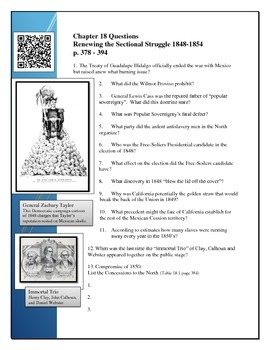 American Pageant Reading Questions Chapter 18, BYOD QR cod