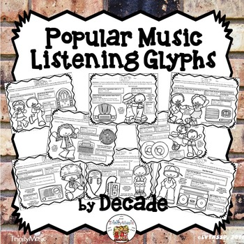 American Popular Music by Decade Listening Glyphs (1920's-1990's)