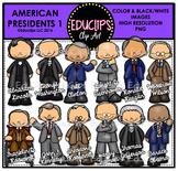 American Presidents 1 Clip Art Bundle {Educlips Clipart}