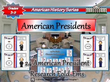 American Presidents Research Fold-Ems