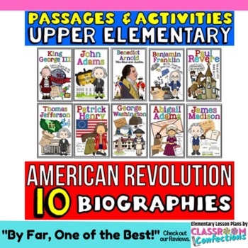 American Revolution: Biographies Reading Passages: 4th-5th