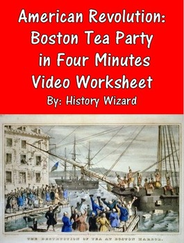 American Revolution: Boston Tea Party in Four Minutes Vide