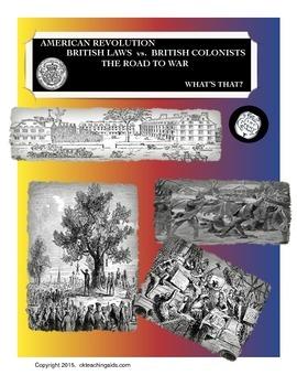 American Revolution: British Laws vs British Colonists, Ro