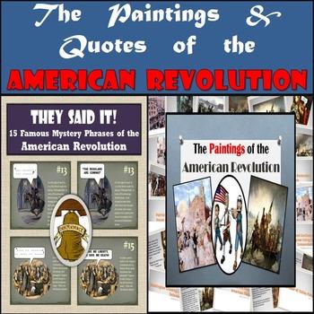 American Revolution Bundle: 15 Famous Paintings & 15 Famou