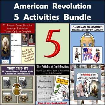 American Revolution Bundle: 5 Activities for Middle School