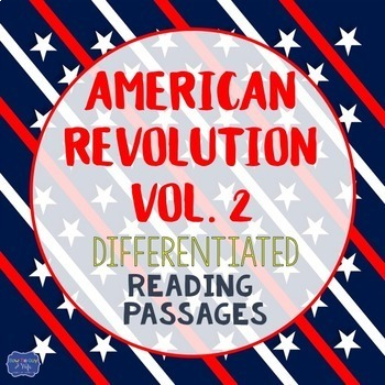 American Revolution Bundle Vol. 2 {Differentiated Reading