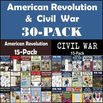 American Revolution & Civil War Bundle: 30-Pack [Great for