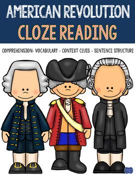 American Revolution Cloze Reading Activity Bundle