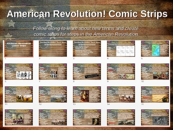 American Revolution Comic Strip Activity: fun, engaging, i