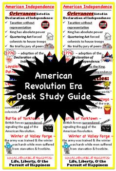 American Revolution Era, Desk Study Guide
