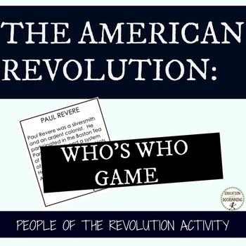 American Revolution People of the American Revolution Stat
