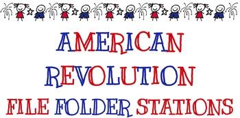 American Revolution File Folder Stations Aligned w/ ELA Co