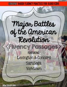 American Revolution Fluency Passages (Key Battles)