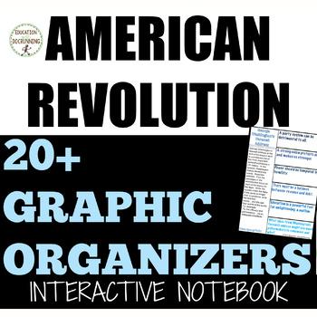 American Revolution Interactive Notebook Graphic organizers