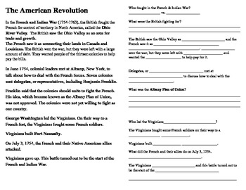 American Revolution Interactive Notes -SS