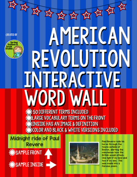 American Revolution Interactive Word Wall