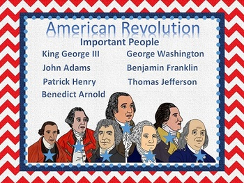 American Revolution:  Key People PowerPoint & Structured N