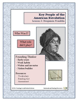 American Revolution - Key People Lesson 3 - Benjamin Franklin
