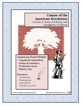 American Revolution - Causes Lesson 4 - Sons of Liberty