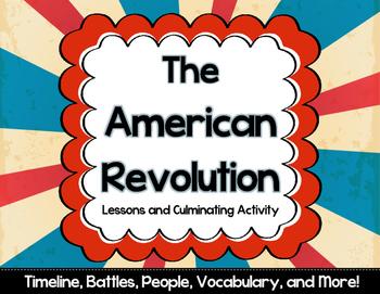 Revolutionary War Project and Lesson Bundle {NO PREP}