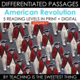 American Revolution Vol. 1: Differentiated Reading Passages