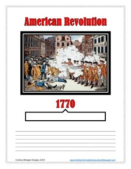 American Revolution Notebook Pages