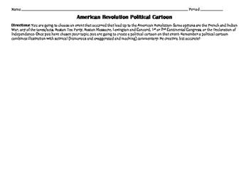 American Revolution Political Cartoon