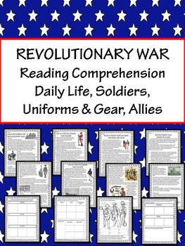 American Revolution Reading Comprehension Passages; Revolu