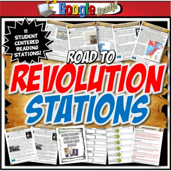 American Revolution Station Activity with Graphic Organize