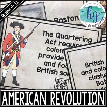 American Revolution Timeline Activity