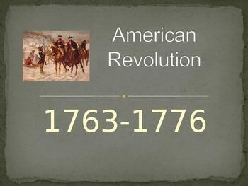 American Revolution Timeline Powerpoint