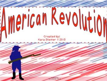 American Revolution War Bundle Pack: Social Studies Unit