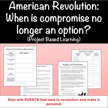 American Revolution: When is compromise no longer an optio