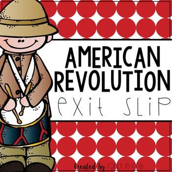 American Revolution Worksheet