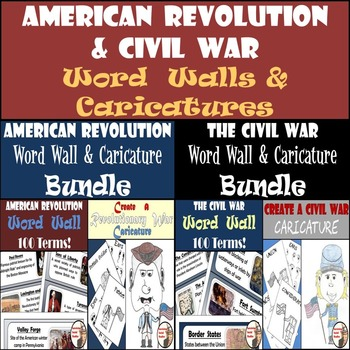 American Revolution and Civil War Bundle - Word Walls and