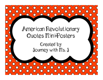American Revolutionary Quotes Mini Posters