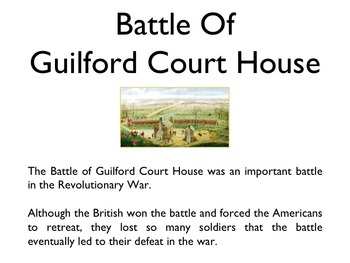 American Revolutionary War - Battle Of Guilford Courthouse