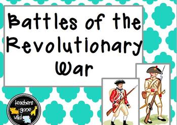 American Revolutionary War Battles PowerPoint and Notes Chart