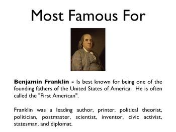 American Revolutionary War - Benjamin Franklin PowerPoint
