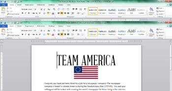 American Revolutionary War Newspaper - America Cover Sheet