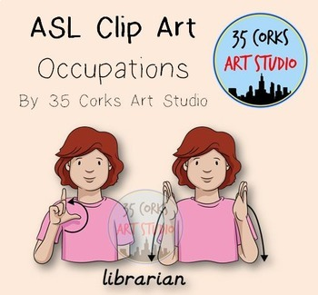 American Sign Language ASL Clip Art - Occupations
