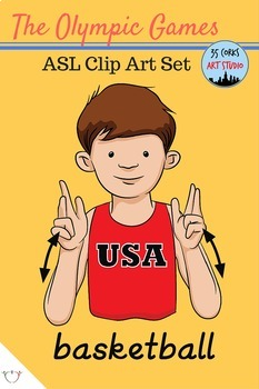 American Sign Language ASL Clip Art - The Olympic Games