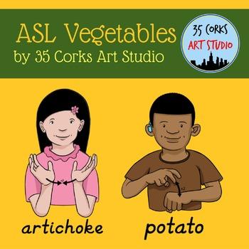 American Sign Language ASL Clip Art - Vegetables