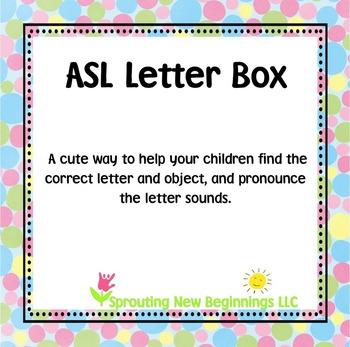American Sign Language - ASL Letter Box