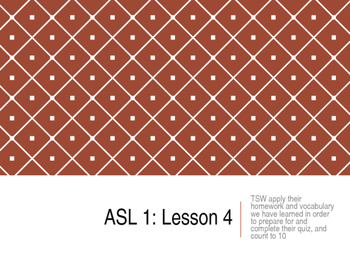 American Sign Language (ASL) Level 1 – Day 4, 5 and 6 less