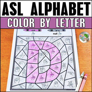 American Sign Language Alphabet Color by Letter