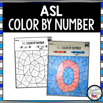 American Sign Language Color by Number