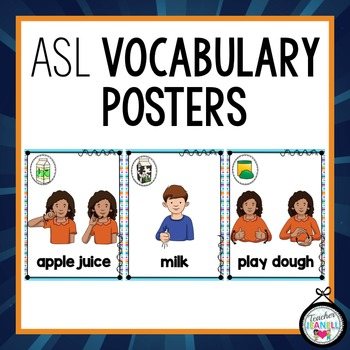 American Sign Language Vocabulary Posters