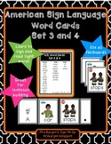 American Sign Language Word Cards Set 3 and 4
