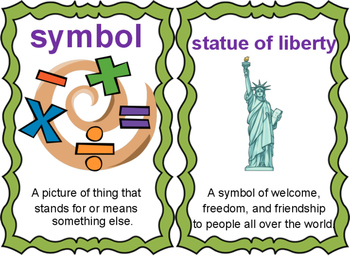 American Symbol Vocabulary Cards